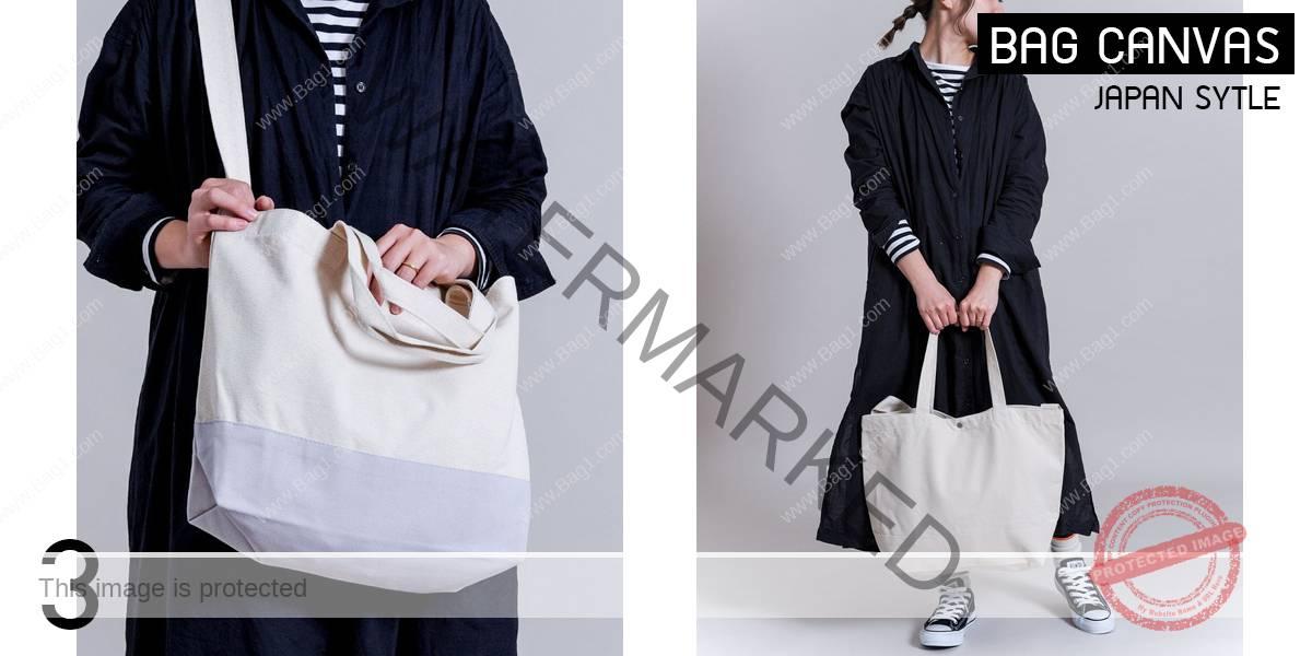 แบบกระเป๋าผ้าแคนวาสสไตล์ญี่ปุ่น